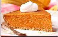 Hungry Girl's Pumpkin pie  http://www.hungry-girl.com/newsletters/raw/1141