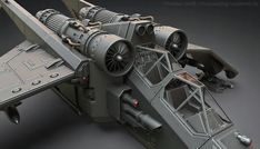 Highpoly version of a Warhammer Valkyrie. The Valkyrie is a Vertical Takeoff and Landing (VTOL) airborne assault carrier used primarily by the Imperial Guard as both a gunship and a transport for airborne combat regiments. Realtime model can be seen Warhammer 40k, 40k Imperial Guard, Sci Fi Models, Air Space, Star Wars Ships, Space Crafts, Space Exploration, Battleship, Transportation