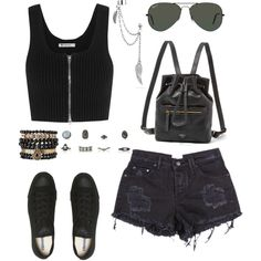 ootd 71 : Alisya by alisya97 on Polyvore featuring polyvore fashion style T By Alexander Wang Converse FOSSIL Samantha Wills Bling Jewelry Ray-Ban