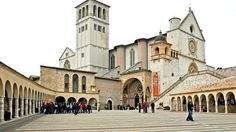 Basilica of San Francesco d'Assisi  The town of Assisi in central Italy cradles one of the most important places of Christian pilgrimage in Italy: Basilica of San Francesco d'Assisi. Built in the 1200s, the basilica is the mother church of the Franciscan Order
