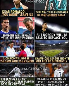 Ya Can believe he is 33 and gonna leave us one day . But wat ever happened. Ronaldo Memes, Ronaldo Quotes, Cristino Ronaldo, Ronaldo Football, Soccer Memes, Football Quotes, Football Is Life, Soccer Quotes, Juventus Team