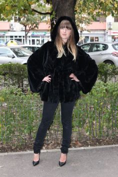 NEW BLACK CHINCHILLA REX FUR JACKET COAT мех доха CLASS SABLE MINK FOX | eBay