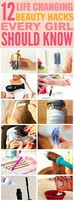 These 12 beyond easy beauty hacks every girl should know are THE BEST! I'm so happy I found these GREAT tips! Now I have some cool tricks to try! Definitely pinning for later!
