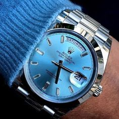 Rolex Day-Date (Presidential) with diamond baguette dial markers  Could this have been better with the fluted bezel?
