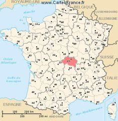 carte département Allier