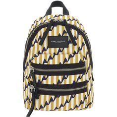 Marc Jacobs Arrow Print Biker Mini Backpack (250 CAD) ❤ liked on Polyvore featuring bags, backpacks, bike bag, mini rucksack, mini bag, day pack backpack and backpacks bags