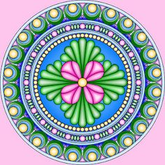 A million Mandalas to color, with liks to matching crafts...