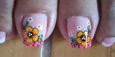 Pedicure Decorado Sencillo 27 Ideas For 2019 Shellac Pedicure, Pedicure Colors, Pedicure Designs, Toe Nail Designs, Glitter Toe Nails, Black Toe Nails, Toe Nail Art, Nail Art Diy, French Pedicure