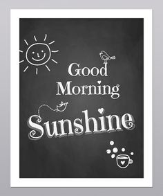 Take a look at this 'Good Morning Sunshine' Print by Posie & Co. on #zulily today!