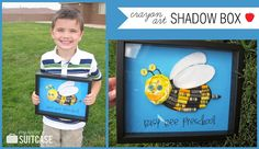 Crayon Art Shadow Box - perfect gift for Teachers! {from My Sister's Suitcase} #gift #teacher #crayon
