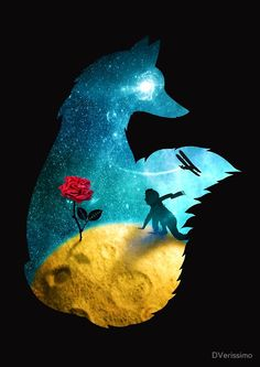 dv designstudio dverissimo illustration fox prince space moon rose little petit fairytale children magic fantasy dream stars plane beautiful thing most exupery book The Little Prince Movie, Little Prince Quotes, Disney Kunst, Disney Art, Prince Drawing, Prince Tattoos, Fox Art, Disney Wallpaper, Belle Photo