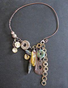 cascading gyspy charm necklace by staci louise originals www.stacilouiseoriginals.com