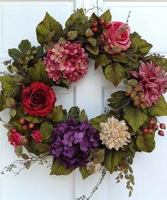 Cottage Rose Wreath | zulily
