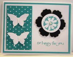 """Sale A Bration So Happy for You Stamp Set Sale A Bration Petal Parade Stamp Set Blossom Punch Elegant Butterfly Punch 1 1/4"""" Circle Punch Basic Pearls Whisper White Bermuda Bay Basic Black"""