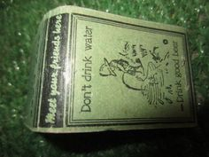 Vintage FOX CAFE DOUGLAS, AZ Matchbook don't drink water-drink good beer peeing boy graphic kitschy novelty