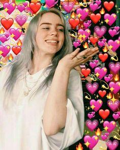 66 Ideas Memes Heart Billie Eilish For 2019 Billie Eilish, Aesthetic Header, Videos Instagram, Heart Meme, Album Cover, Cute Love Memes, Wholesome Memes, Reaction Pictures, Celebs