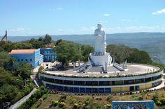 Estátua do Pe. Cícero - Visão aérea - Juazeiro do Norte-Ceará-Brasil