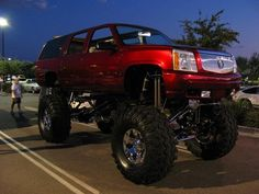 Check this out! I honestly am into the things that they did with this custom made Lifted Chevy Trucks, Custom Trucks, Cool Trucks, Pickup Trucks, Hummer Truck, Chevy Girl, Cadillac Escalade, Sweet Cars, Dream Cars
