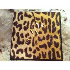 Fun, personal, touch to my wedding!   Personalized, leopard, cocktail napkins