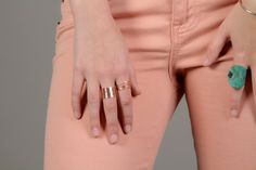 ROSE Gold Stacking Rings / Rose Gold Filled Stack by amywaltz