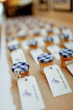 "A ""sweet reminder"" of your wedding for your guests to enjoy later! honey gift favor for a summer wedding"