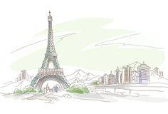 эйфелева башня рисунок - Поиск в Google