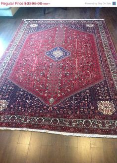 Item 2203, Stunning Antique Persian Abadeh Rug, 9'9 x 6'7