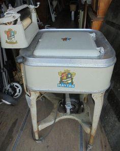 Antique Maytag Gas Engine Powered Washing Machine 1920s