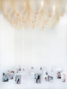 Balloon photo chandelier | via www.loveyourdaydesignsblog.com | Wedding Wednesday: Trend Alert | Balloons