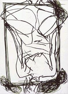 georg baslitz | Georg Baselitz, Casa Gaudi, 1996 - pointe sèche Modern Artists, Contemporary Artists, Casa Gaudi, Grabar Metal, Neo Expressionism, Black And White Lines, Gravure, Painters, Original Art