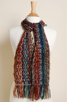 All we can think about is how well a scarf like this would go with a t-shirt and some of those soft LuLaRoe leggings. Picturing it? So cozy! Learn how to make a Lattice Lace Scarf like this one at Interweave Yarn Fest with Stephanie Flynn Sokolov! How To Introduce Yourself, How To Make, Lace Scarf, Knitting Stitches, Yarn Crafts, Weaving, Cozy, Leggings, Celebrities