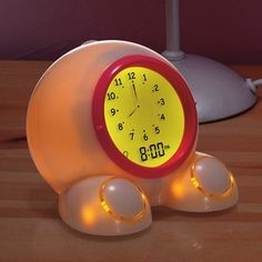 Teach Me Time! Talking Alarm Clock & Nightlight in Late Summer 2012 from One Step Ahead  on shop.CatalogSpree.com, my personal digital mall.