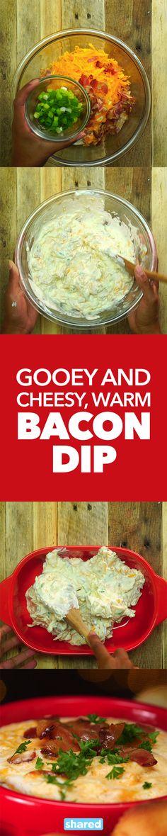 Gooey and Cheesy, Warm Bacon Dip