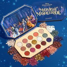 Disney Designer Collection Midnight Masquerade Series Eyeshadow Palette by ColourPop Make Up Palette, Colour Pop, Disney Make-up, Disney Food, Disney Style, Disney Designer Collection, Cute Makeup, Beauty Makeup, Masquerade Makeup