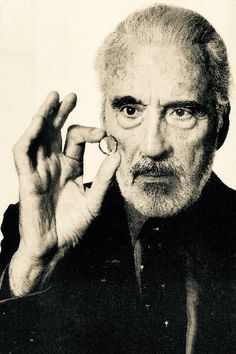 """RIP Saruman: """"May the wind under your wings bear you where the sun sails and the moon walks."""" JRR Tolkien (Christopher Lee May 27, 1922 - June 7, 2015)"""