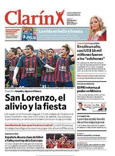San Lorenzo, el alivio y la fiesta. Más información: http://www.clarin.com/deportes/futbol/fin-larga-agonia_0_729527129.html