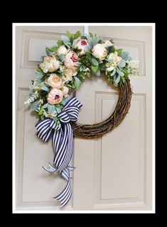 Front Door Wreaths, Spring Wreath, Baby Shower – My World Grave Decorations, Baby Shower Decorations, Spring Front Door Wreaths, Spring Wreaths, Baby Door Wreaths, Etsy Wreaths, Year Round Wreath, Diy Door, Diy Wreath