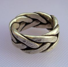 ethnic sterling silver ring band handmade jewelry cocktail ring. $99.00, via Etsy.