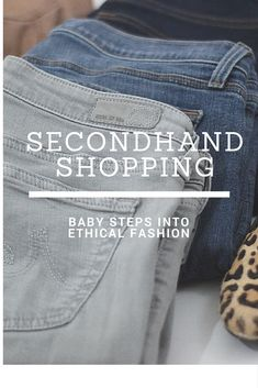Secondhand Shopping tips. Wearing preloved items to slow down the fashion industry.