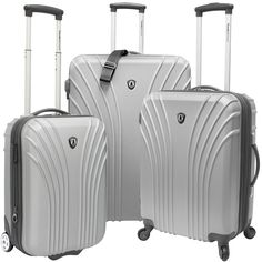 Traveler's Choice Cape Verde 3-piece Hardside Luggage Set - 2 Carry On Pieces | Overstock.com Shopping - The Best Deals on Three-piece Sets