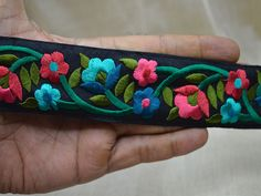 1 m de lámina y Zari más recientes de la India trabajo en tela de color Encaje Ribete étnicos