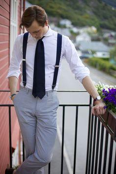Seersucker summernight suspenders braces suitsupply tie menswear