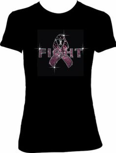 """I Fight"" Pink Ribbon Breast Cancer Shirt - Breast Cancer T-Shirts - Pink Ribbon Apparel & Accessories"