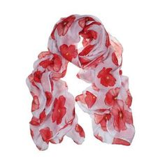 Red Poppy Scarf - LEST WE FORGET