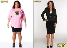 Biggest Loser Season 13 - Kim.  She may not be making friends, but she is kicking butt and looks AMAZING.