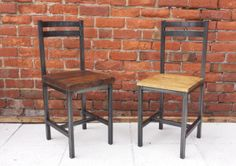 Lovely handmade rustic  metal framed dining chair industrial chic
