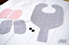 elephant bib & binkie holder pattern/tutorial