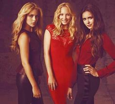 The Girls. Rebekah, Caroline, and Elena.