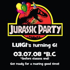 Imagen relacionada Birthday Party At Park, Dinosaur Birthday Party, Birthday Parties, 4th Birthday, Jurassic Park Party, Party Fiesta, Leaf Template, Jurassic World, Birthday Decorations