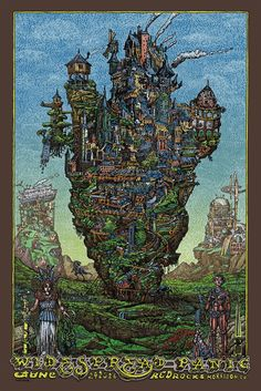 Widespread Panic Red Rocks Morrison Poster 2016 by David Welker